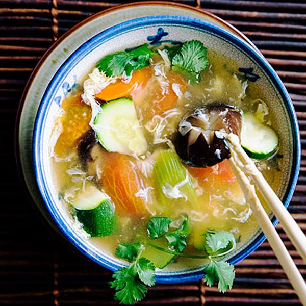 Vegetable Egg Drop Soup